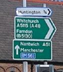 File:Sign at A51-A5115 junction in Chester - Coppermine - 22920.jpg