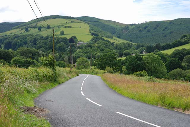 File:The B4518 south of Llanbrynmair - Geograph - 856756.jpg