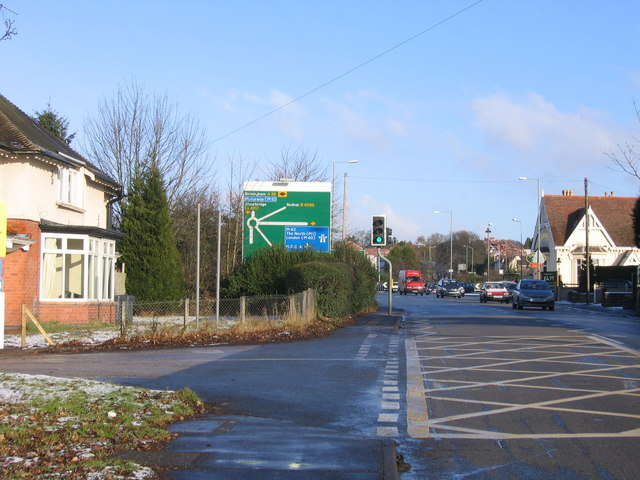 File:A38 Bromsgrove approaching Junction 1 M42 - Geograph - 1107677.jpg