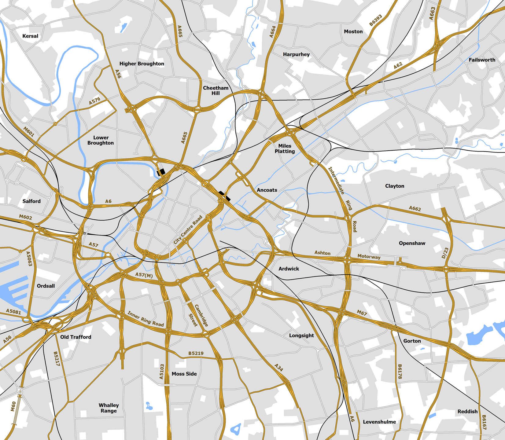 S Manchester More Ringways Than London SABRE - London map manchester