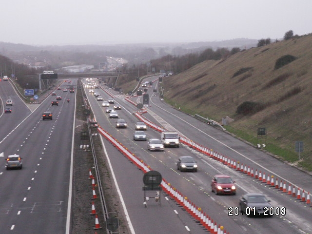 File:M27 J11 roadworks.jpg