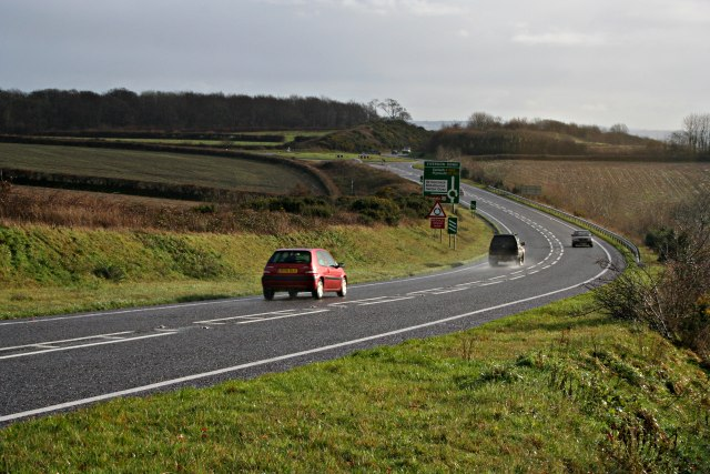 File:Main Road at Viverdon Down - Geograph - 291827.jpg