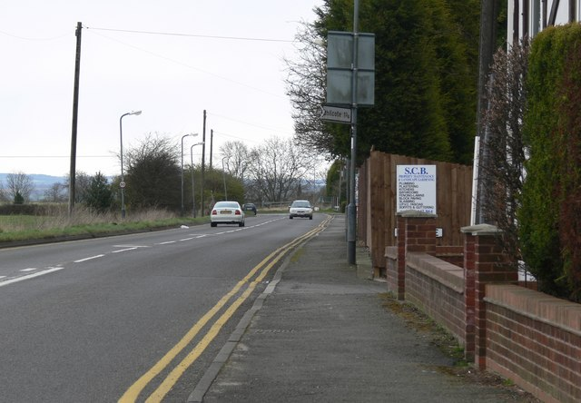 File:The B5493 in No Man's Heath - Geograph - 743465.jpg