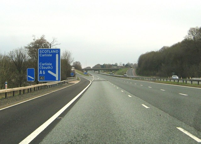 File:Junction 42 on the M6 - Geograph - 1867706.jpg