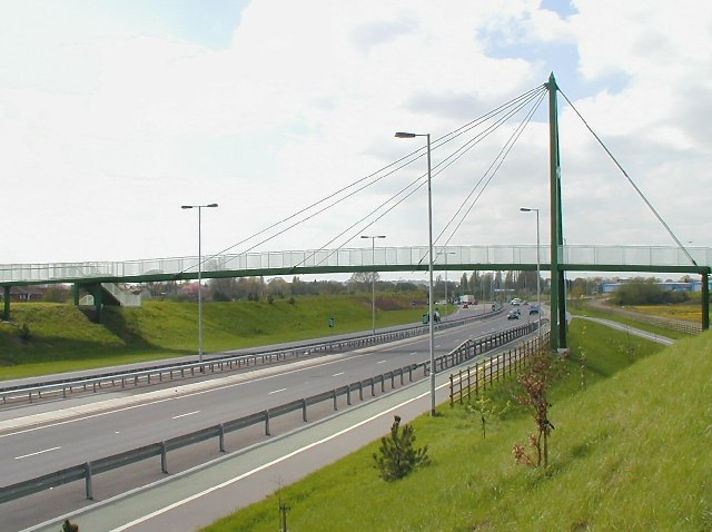 File:Footbridge on Alvaston Bypass - Geograph - 6389.jpg