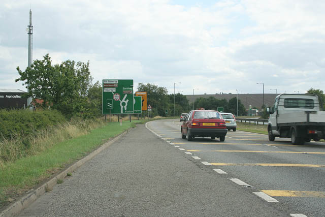 File:A1 at Gonerby Moor - Geograph - 215766.jpg
