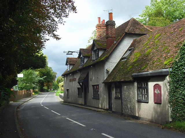 File:The A4155 and Ye Olde Dog and Badger, Medmenham - Geograph - 963324.jpg