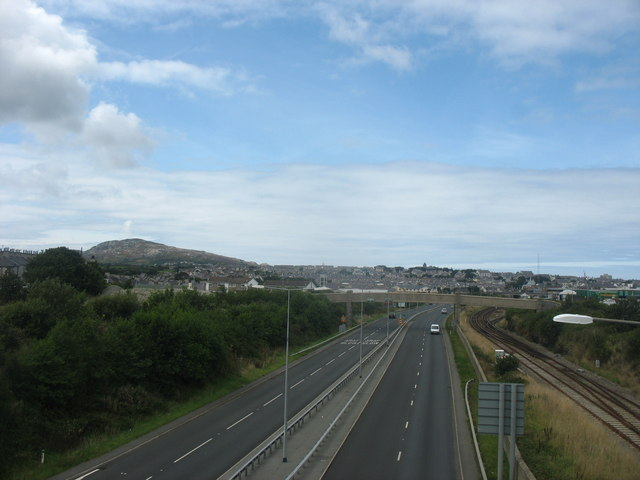 File:View north from the Cytir Road bridge - Geograph - 1442167.jpg