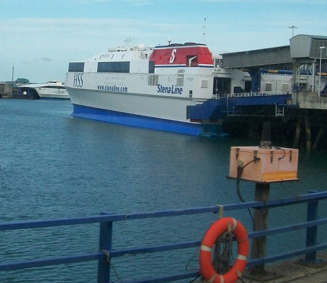 File:The HSS Stena with the Jonathan Swift in the background - Geograph - 1458250.jpg