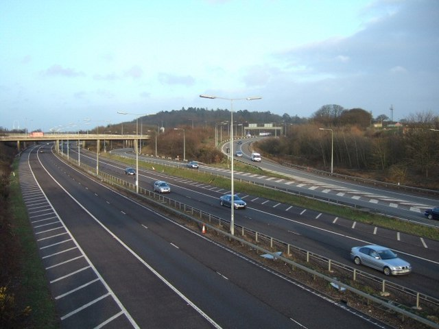 File:M3 Junction 2 - Geograph - 143097.jpg