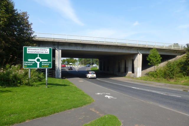 File:A1 at Alnwick - Geograph - 4262433.jpg