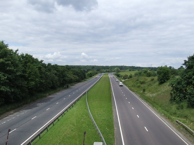 File:A10 north from Cock Lane - Geograph - 846065.jpg