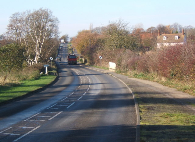 File:B1113 heading towards Stowmarket from Needham Market - Geograph - 614126.jpg