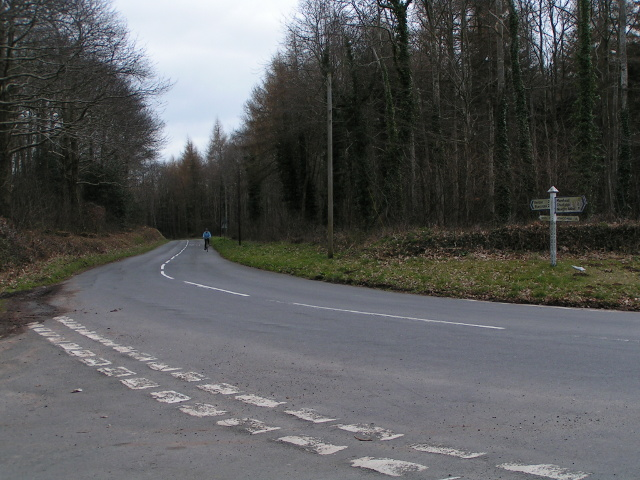 File:Road junction at Black Forest Lodge - Geograph - 1833065.jpg