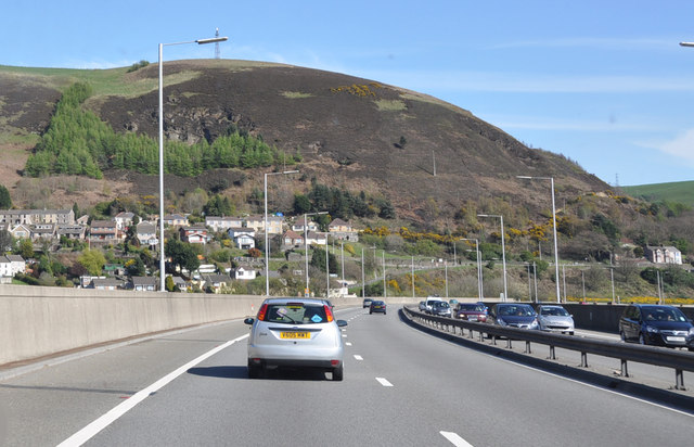 File:On the elevated section of the M4 - Port Talbot - Geograph - 1413284.jpg