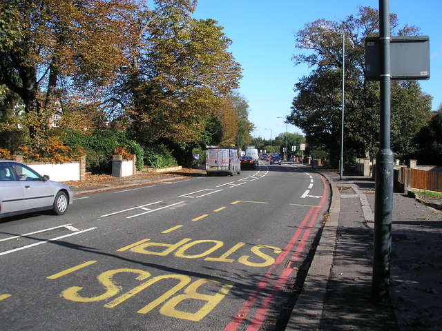 File:Brighton Road (A23). Looking north to Purley - Geograph - 607496.jpg
