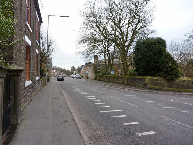 File:Blackburn Road south of Egerton United Reformed Church - Geograph - 1770935.jpg