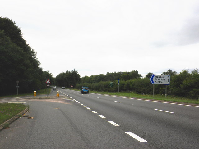File:Turning for Starcross, on the A380 - Geograph - 1994375.jpg