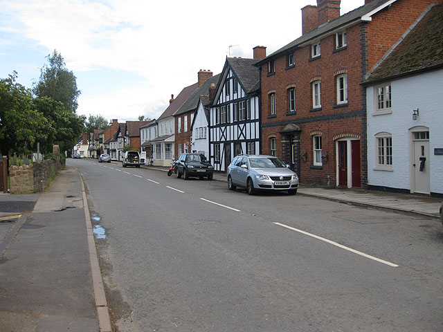 File:View East along the B4220, Bosbury - Geograph - 1452293.jpg