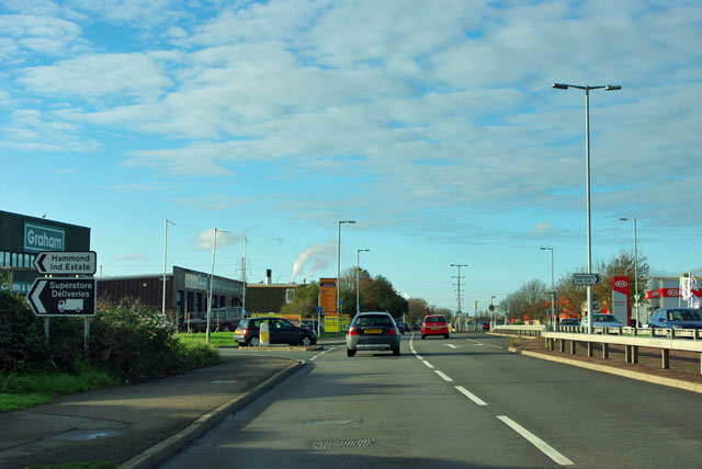 File:Lottbridge Drove at Hammonds Drive... (C) Robin Webster - Geograph - 2697645.jpg