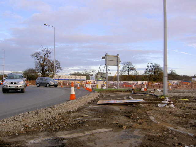 File:A1 improvements Wetherby roundabout - Geograph - 611934.jpg