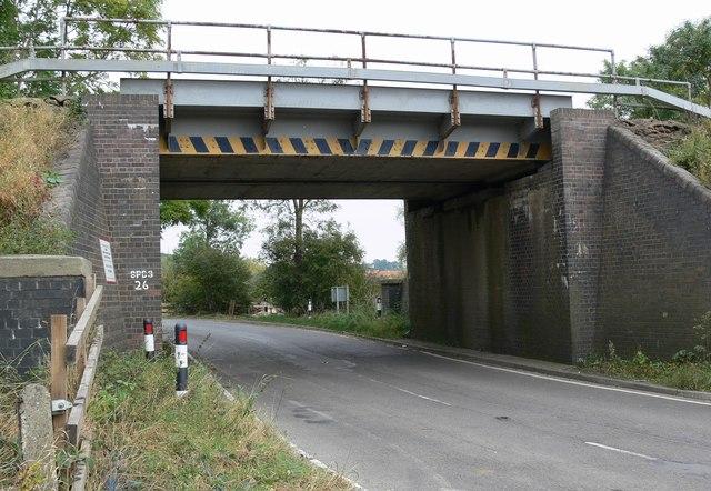 File:Railway bridge over the B6047 Melton Road - Geograph ...