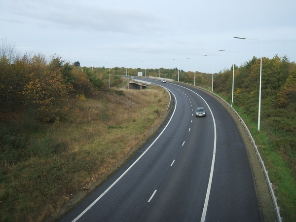 File:Southbound Slip Road from M54 - Geograph - 276696.jpg
