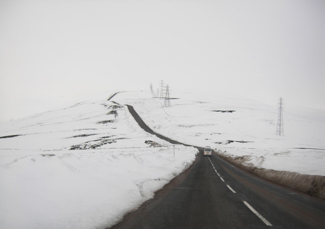 File:A939 between Cock bridge and Lecht Ski Centre - Geograph - 1726011.jpg