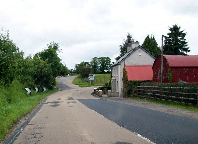File:The A509 (Derrylin Road) just south of the junction with Stragowna Road - Geograph - 2686830.jpg