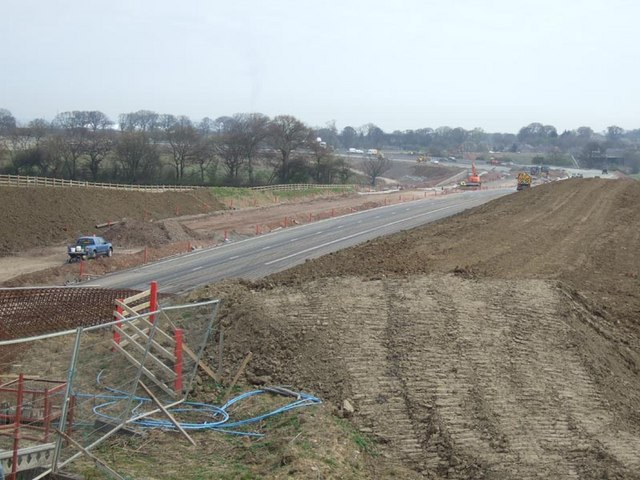 File:M9 construction northbound - Geograph - 454864.jpg