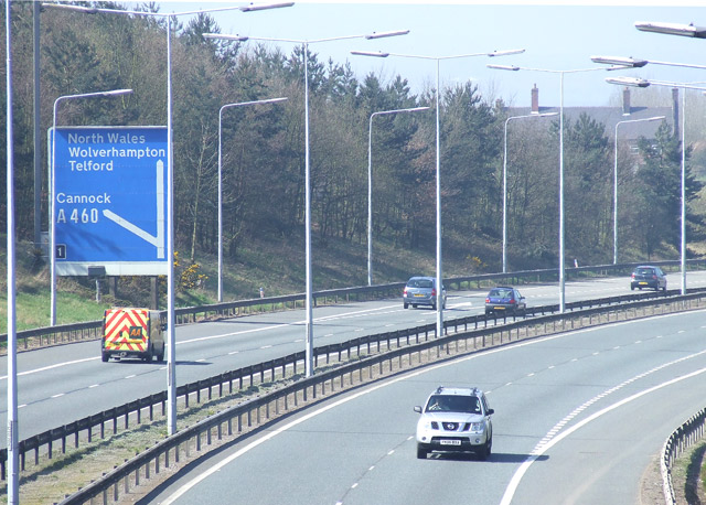 File:M54 near Featherstone, Staffordshire - Geograph - 391701.jpg