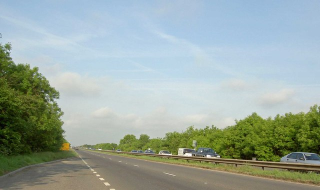 File:Lay by on the A40 heading towards the M5 motorway - Geograph - 810955.jpg