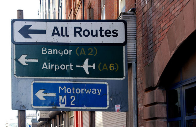 File:Faded road sign, Belfast - Geograph - 1667781.jpg