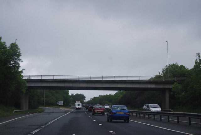 File:A1 - Catterick turn off - Geograph - 2574963.jpg