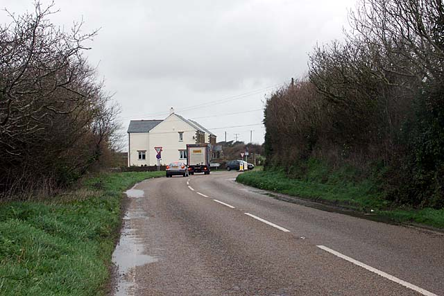 File:Road Junction at Gummow's Shop - Geograph - 354601.jpg