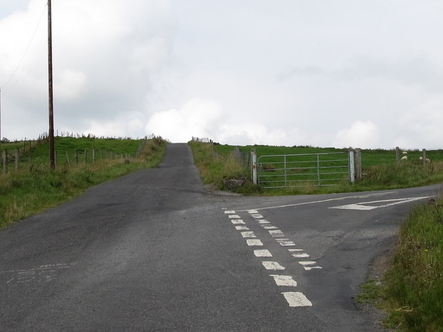 File:Finnis Road at its junction with Dree Hill - Geograph - 3435456.jpg
