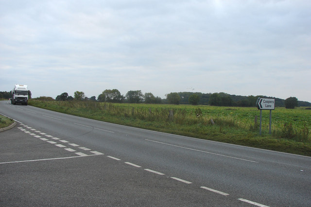 File:A134 at Coopers Lane, Shouldham Thorpe - Geograph - 576965.jpg