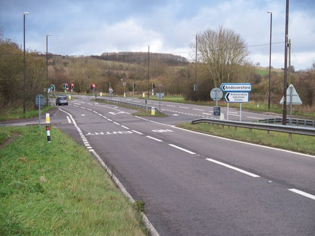 File:Major road junction - Geograph - 1616438.jpg