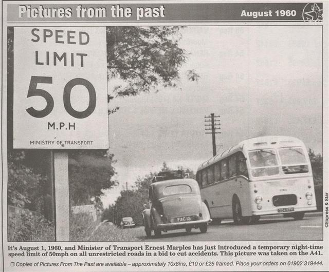File:US-style speed limit sign on A41 near Wolverhampton, August 1960 - Coppermine - 4690.jpg