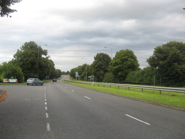 File:The A449 heading past Dobbie's Garden Centre at Gailey - Geograph - 1435325.jpg