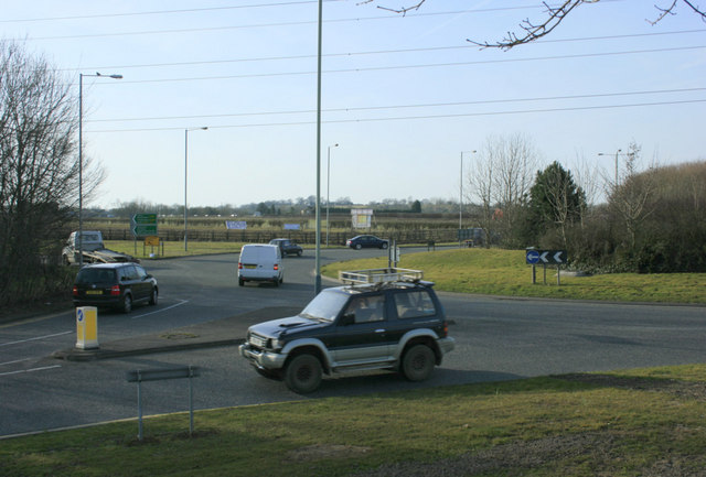 File:Roundabout on the A350 Chippenham bypass - Geograph - 1807551.jpg