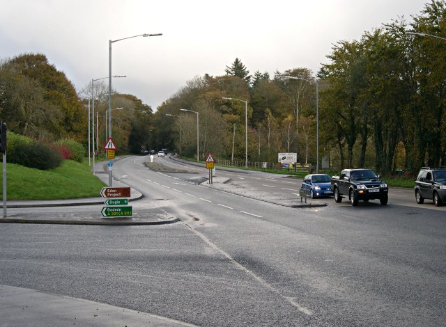 File:The A390 on the eastern edge of St Austell - Geograph - 379111.jpg