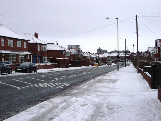 File:A191 passing through Gosforth - Geograph - 1643899.jpg