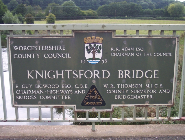 File:Knightsford Bridge Plaque - Geograph - 554531.jpg