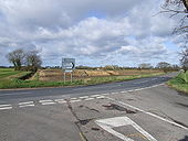 Junction of B1134 and B1077 - Geograph - 354381.jpg