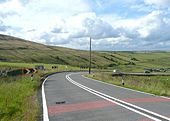 Bend on Woodhead Road A6024, Holme - Geograph - 1412940.jpg