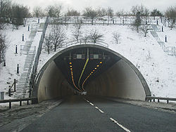 Entering the Roundhill Tunnel - Geograph - 1710411.jpg
