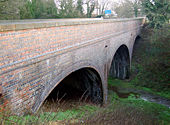 Railway bridge, A45 Dunchurch - Geograph - 1127127.jpg