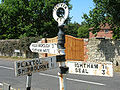Sign in Crouch (I think!), nr Ightham, Kent - Coppermine - 6361.JPG