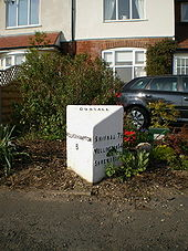 Detail of the Codsall Milestone - Geograph - 1267399.jpg